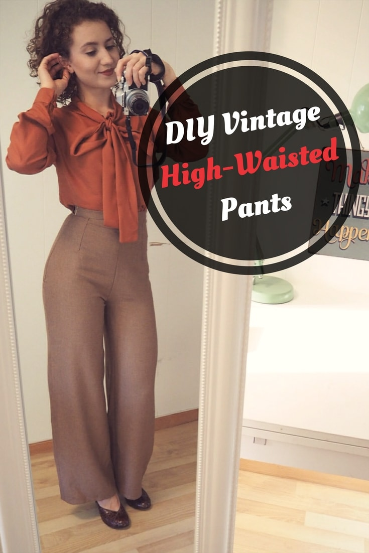 DIY Vintage High-Waisted Pants