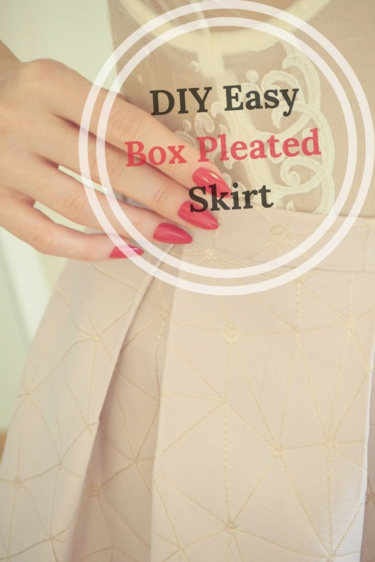 DIY Easy Box Pleated Skirt