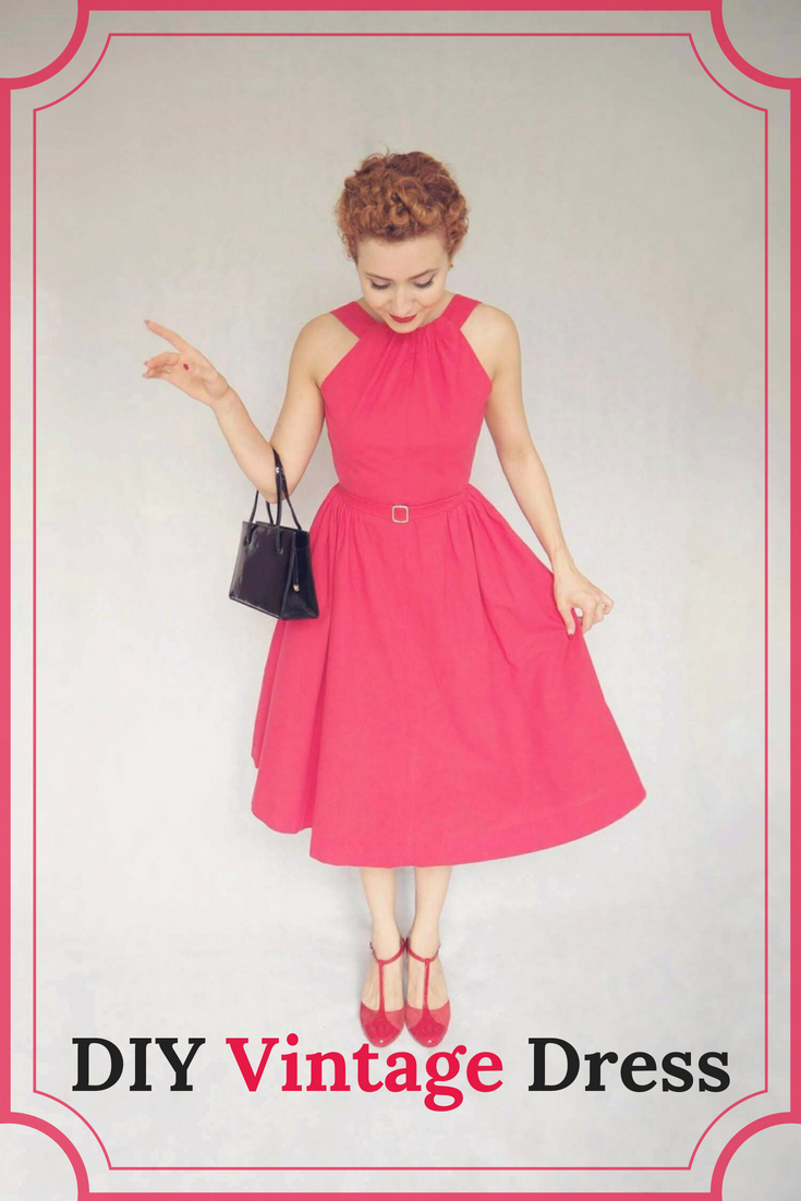DIY Vintage dress, vintage dress, The Red Vintage-Inspired dress, 1950's dress, vintage summer dress #vintagedress #1950s #1950sdress