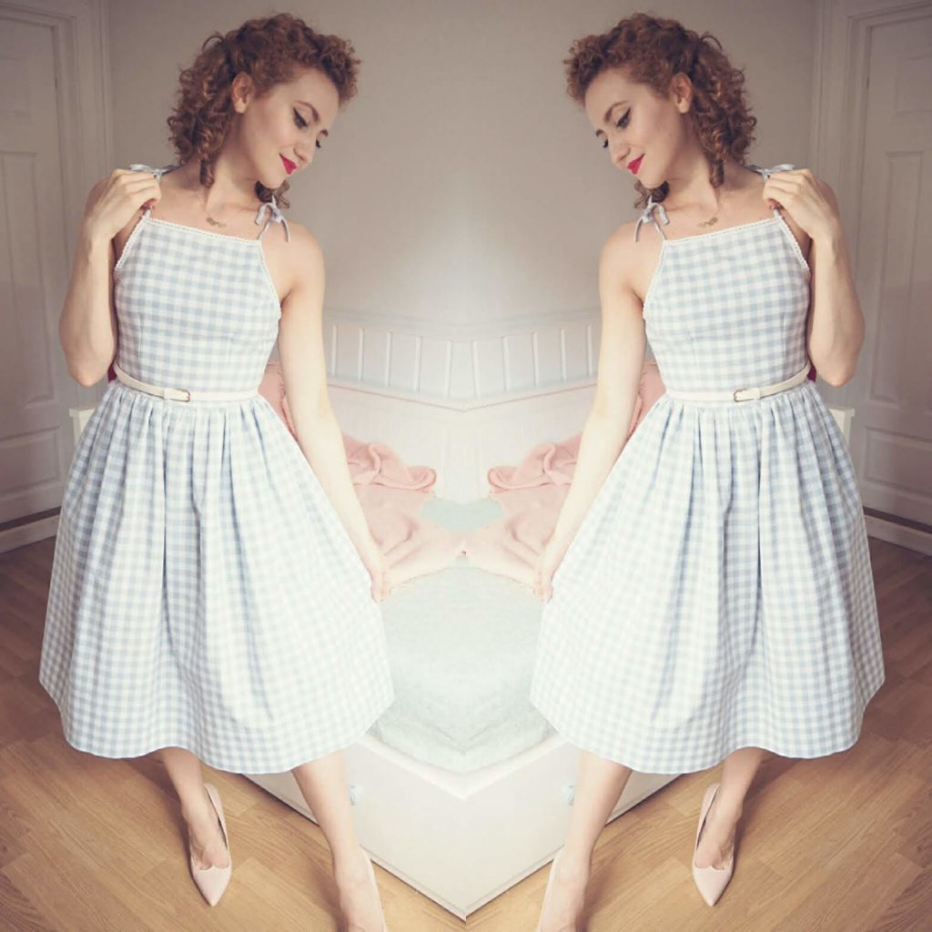 diy vintage gingham dress June 2018 projects- What I've been up to