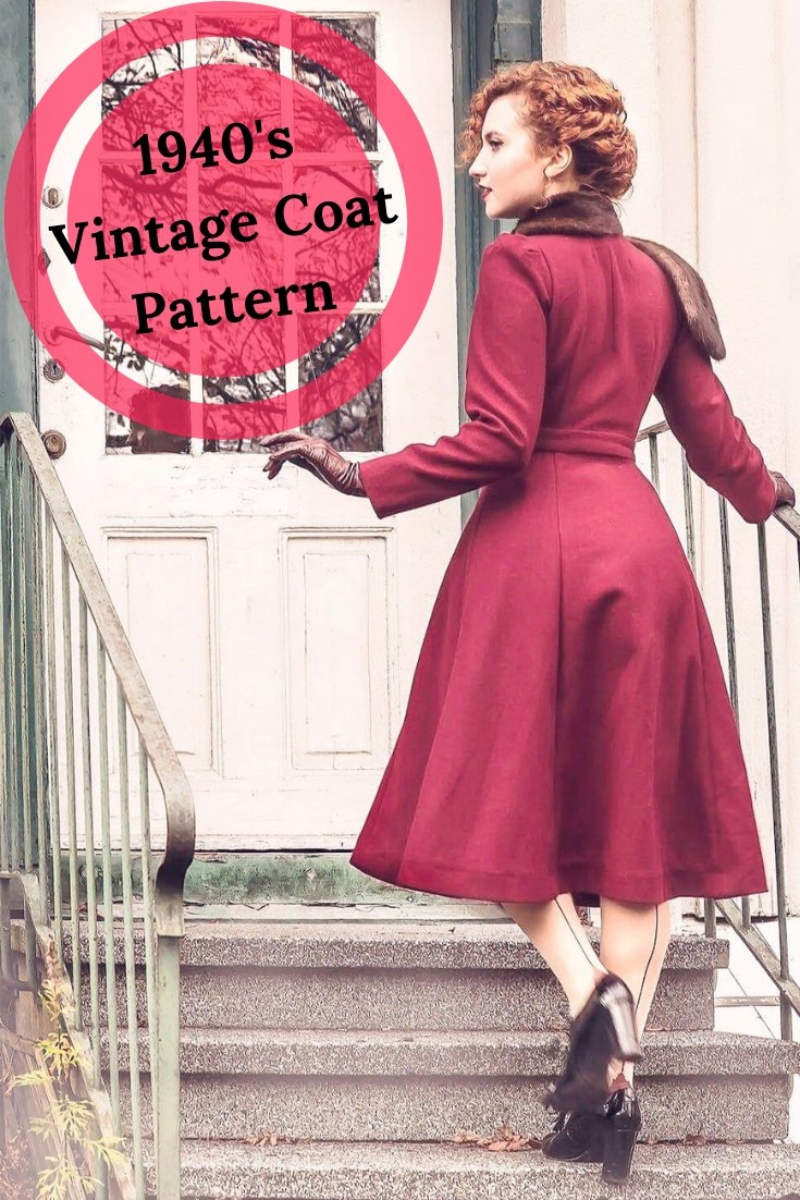 1940's Vintage Coat Pattern vintage coat, 1940's coat, vintage coat sewing pattern #1940s #vintagecoat DIY vinage coat, vintage coat, 1940's coat, 1940's fashion, 1940's, 40's, 1940's sewing pattern, coat sewing pattern, vintage sewing pattern, my curly projects